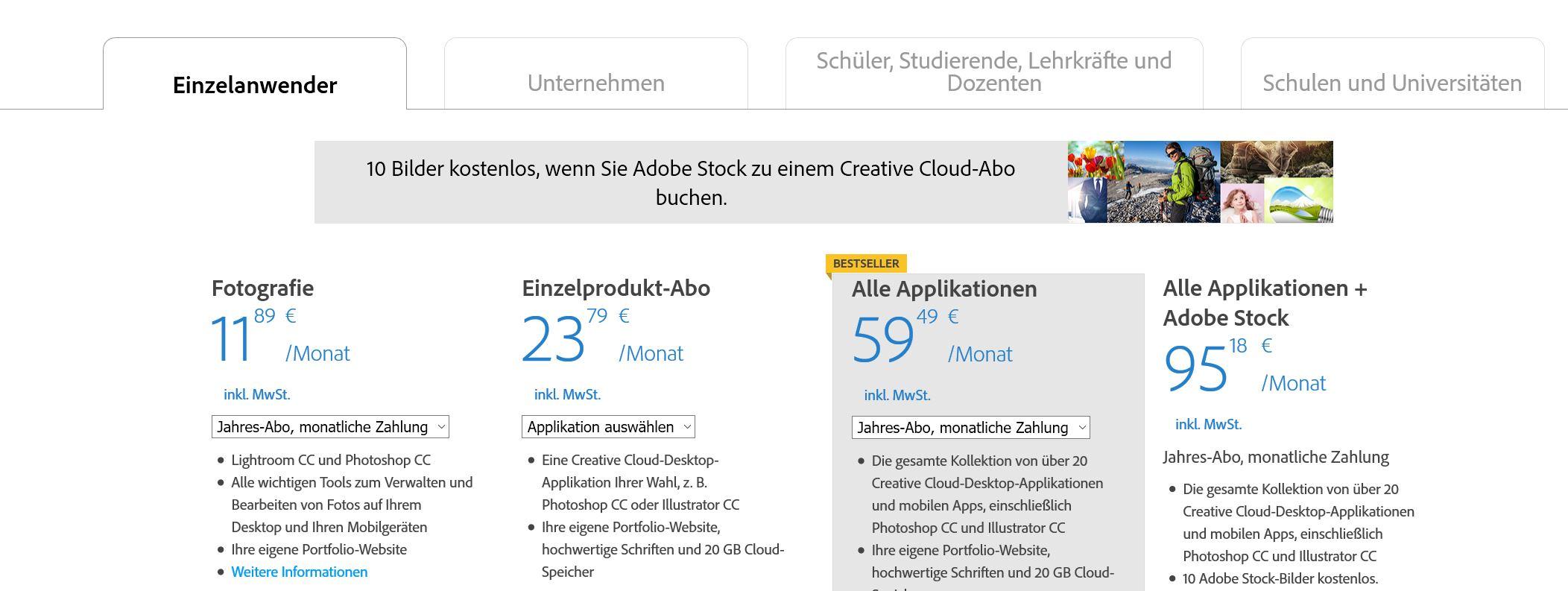 Adobe ist teuer. Aber sehr gut.